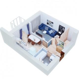 Однокімнатна 36 кв. м.